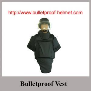 Black Ballistic Body Armour with groin shoulder neck protection Vest