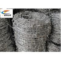 China Custom 12.5 Gauge Barbed Wire , High Tensile Barbed Wire For Airport Prison Security on sale