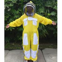 China Yellow Color New Type Three Layer Ventilated Beekeeping Protective Clothing wholesale
