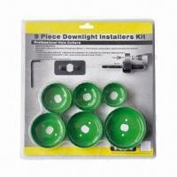 China 9 pieces high speed downlight installers bi-metal hole saw kit wholesale