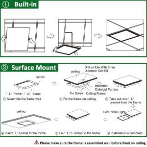 Quality 2Ft x 4ft 50W LED Troffer Flat Panel Light Commercial Drop Ceiling Edge Lit Lamp 6250lm for sale
