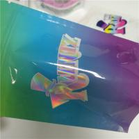 China RUNTZ / Hologram Resealable Plastic Bags Cookies Stand Up Pouch Jokes Up Smell Proof wholesale
