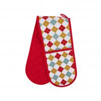 Buy cheap Hand Protect Cotton Double Oven Mitt 17.5 * 80cm Customized Heat Resistant from wholesalers