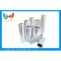China 1000 MM Clear Shrink Film , 35micron PVC Shrink Film For Sleeve Application wholesale