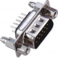 China D - SUB Dual Row 9 Pin Male Connector 180°DIP PBT Type Brass 3.0AMP Current Rating ROHS wholesale