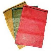 China PE Polyethylene plastic Woven Mesh Bags , firewood sacks Large capacity wholesale