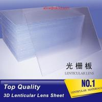 China OK3D high quality PS 40LPI board 120x240cm, 3.95mm lenticular sheet for 3d and flip lenticular effect by injekt print wholesale