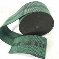 China Durable Synthetic Rubber Elastic Webbing For Sofa In Green Color 6cm 460B# wholesale