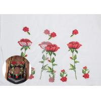 Buy cheap Polyester Embroideried Mesh Rose Lace Fabric , Floral Lace Netting Fabric OEM Service from wholesalers