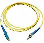 China ST to SC Simplex Singlemode 9 / 125 μm Fiber Optic Patch Cord in Yellow PVC Jacket wholesale