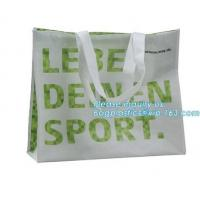 China Low price recyclable plastic pp woven shopping bag manufacturers,Factory low price promotional PP laminated woven shoppi wholesale