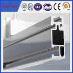 China Anodized aluminum extrusion profiles for solar system, solar mounting aluminium rails wholesale