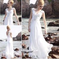 Buy cheap custom white sleeveless long quinceanera prom dresses from wholesalers
