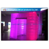 China Pink Portable Inflatable Photo Booth Enclosure LED lighting 16 Colors wholesale