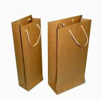 China Oem production new arrived fashion elegant custom printing paper wine bag wholesale