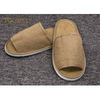 China Disposable Close Toe Hotel Room Slippers / Disposable Travel Slippers wholesale