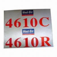 China Fabric Sticker, Customized Sizes and Logos are Welcome, Made of 0.2 to 0.5mm Fabric wholesale