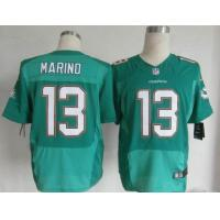 China Nike NFL Miami Dolphins 13 Dan Marino Green Elite Jerseys wholesale