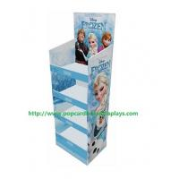 China 4 Tier Advertising Small Floor Cardboard Display Boxes For Daily Necessities wholesale
