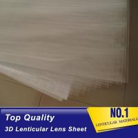 China 100lpi 0.58mm PET lenticular sheet  lens plastic film lenticular printing sheet lenticular sheet importer in usa wholesale
