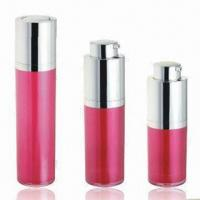 China Cosmetic Airless Bottles for Skin Care Cream, Various Colors are Available, OEM Orders are Welcome wholesale