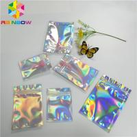 China Transparent Front Foil Packaging Bags Holographic Smell Proof Heat Seal Recyclable wholesale