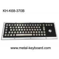 Buy cheap Electroplated Black Industrial Keyboard with Trackball Stainless Steel Laser Trackball from wholesalers