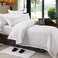 China Double Size Hotel Bedding Linen Plain White Color And 400T With 100% Cotton wholesale