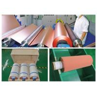 China 500 - 5000 Meter 18um Copper Roll , High Ductility Adhesive Copper Foil Sheet wholesale