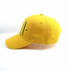 China Factory manufacture customized Lemon yellow 5panel logo plastic buckle baseball caps hats wholesale