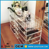 Quality Acrylic cosmetic makeup organizer/ makeup brush display/ makeup brush holder for sale