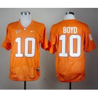 China Nike Clemson Tigers Tajh Boyd 10 Orange Pro Combat College Football Jersey wholesale