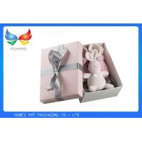 Buy cheap Professional Bow Pink Luxury Gift Boxes Glossy Lamination For Baby Shoe Packaging from wholesalers