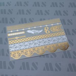 China Metallic gold tattoo sticker, Gold foil temporary tattoo on sale