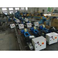China 2T Capacity Bolt Adjustment Pipe Welding Rollers with Polyurethane Rollers Gear Reducer wholesale