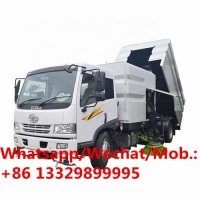 China Customzied FAW RHD road cleaning sweeper truck for sale, HOT SALE! cheaper price street sweeping and washing vehicle on sale