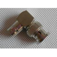 China Copper Nickel Plated CCTV BNC Connector , Right Angle Male To Female Connector wholesale