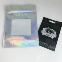 China Smell Proof Hologram CBD Weed Ziplock Plastic Pouch Packaging Customized Size wholesale