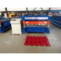 China 5.5 kw Servo Motor Glazed Tile Roll Forming Machine High speed 4 m/min wholesale