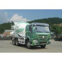 China Green Concrete Mixer Truck 10 Cbm With Safety Belts For Driver wholesale