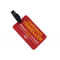 China Soft Rubber Custom Plastic Luggage Tags OEM / ODM Accepted Light Weight wholesale