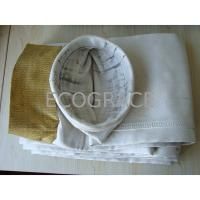China High Efficiency Fiberglass Industrial Filter Bags For Dust Collector, 0.8mm Thickness on sale