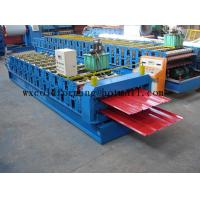 China Blue 5 M / Min Roof Panel Glazed Tile Roll Forming Machine With 18 Forming Station on sale