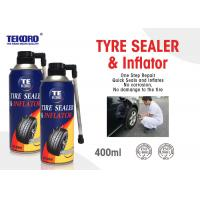 China Non - Toxic Tire Sealer And Inflator For Fixing Flat Tire / Punctured Tire / Rubber Tire wholesale