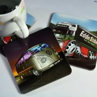 China 4mm thinkness square mdf coaster set with custom design wholesale