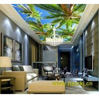 China Palm Tree Integrated Ceiling System Bamboo Fiber Soundproof Ceiling Board wholesale