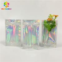 China Mylar Aluminum Foil Stand Up Pouch Foil Hologram Packaging Bag For Cosmetics wholesale