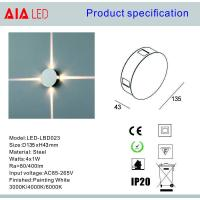 Quality 4ways round 4x1W interior IP20 modern LED wall light /LED decoration light for pub used for sale