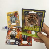 China RHINO 8/11/25 Display Blister Card Packing Male Enhancement Performance Pills 3d Empty Container wholesale