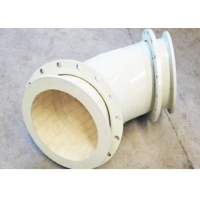 China 3.65g/Cm3 High Alumina Ceramic Lined Pipe Fittings , FBE Wear Resistant Elbow wholesale
